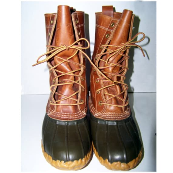 Vintage Ll Bean Leather Rubber Hunting Boots Bean By