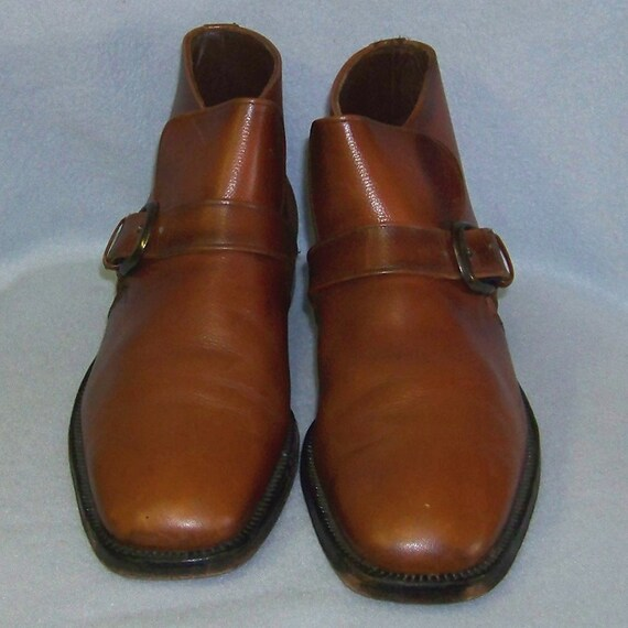 70s mens Bates brown leather ankle boots 10.5 D RESERVE FOR KIRK