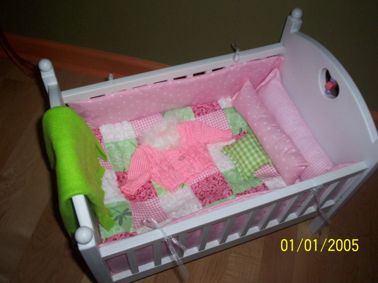Pink Quilt Bitty Baby Doll Crib Bedding Set By Kmblarney