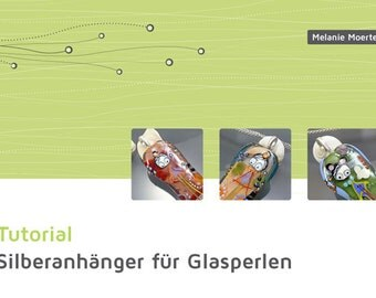 DIY Tutorial zum Silberanhänger für Glasperlen herstellen, Von Melanie Moertel - Deutsche Version, zum sofort downloaden, Glasperlen How-To