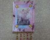 Darza Mate, Latvian Goddess of Gardens, Altered Art Card ACEO