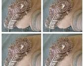 4 Peacock bridesmaid hair accessories - Wedding Hair Accessories - vintage wedding - crystal hair piece