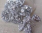 Wedding Hair Accessories Crystal Bridal Flower Hair Comb - Wedding