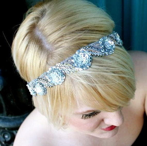 SALE - Just a few left -Boho Chic Headband Bronze or Silver Grecian Style Floral Headband Womens Limited Edition