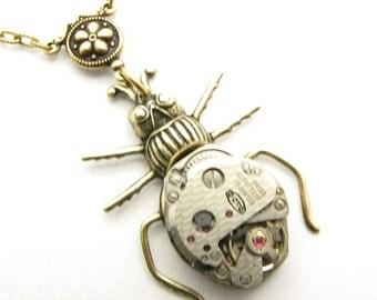 Steampunk Brass Specimen Necklace