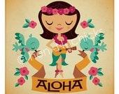 Aloha 8x8 print