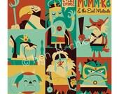 Mummra and Mutants 8x8 print