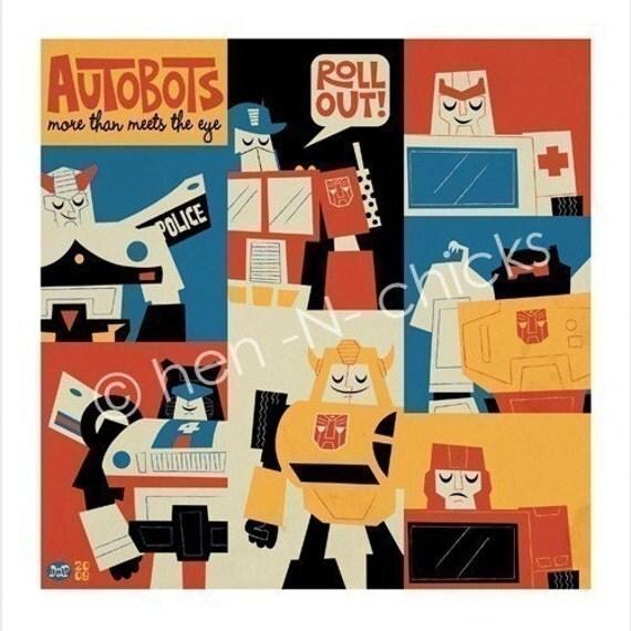 Autobots 8x8 print