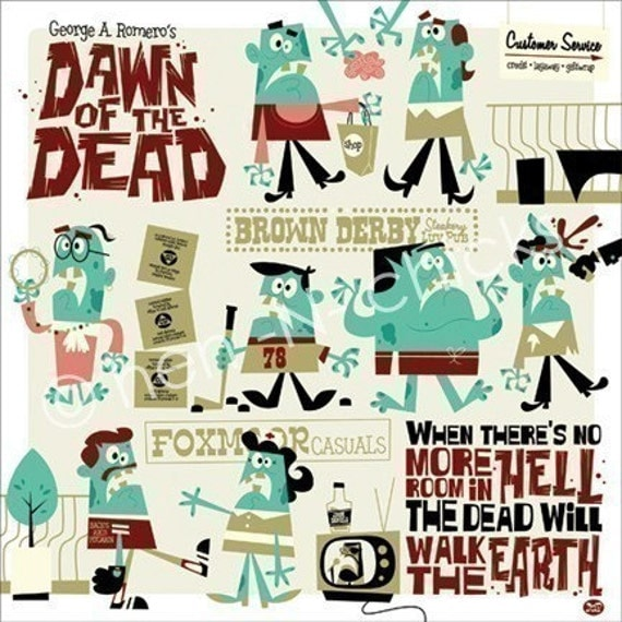 Dawn of the Dead 8x8 print