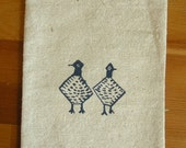 Screenprinted Card Set w\/ Pouch - Speckled Hens