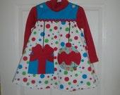 Girls Christmas Dress,Free Shipping,  Free BowBlue,White,Red,Jumper,Infant,Toddler,