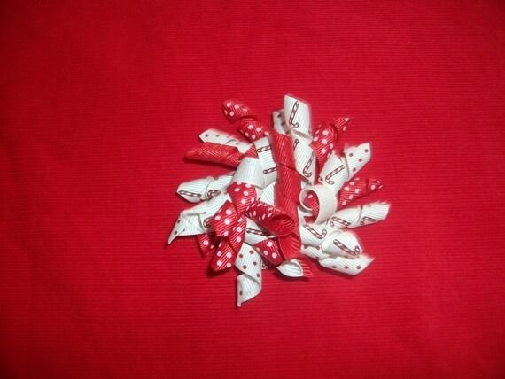 Hair Clip Christmas.Candy Cane,Korker Ribbon,Infant,Toddler,Girls