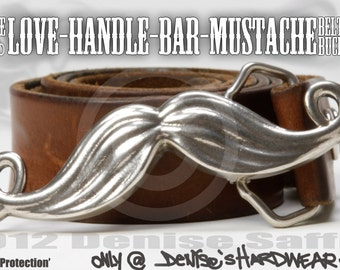 The Love-Handle-Bar-Mustache Belt Buckle