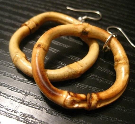 bamboo loops  - earrings by yuki