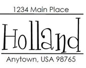 Custom Address Stamp - Style: Holland