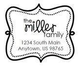 Self Inking Address Stamp - Style: Miller