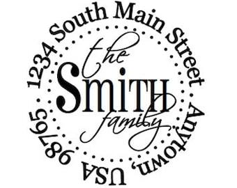 Custom Address Stamp - Style: AB Smith 5