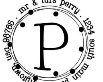Custom Address Stamp - Style: Perry