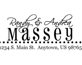 Custom Address Stamp - Massey