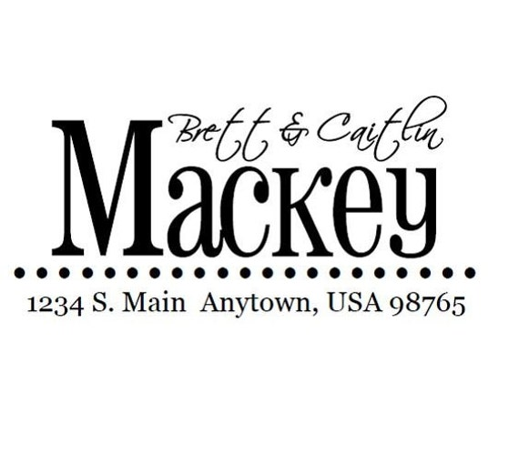 Custom Address Stamp - Style: Mackey
