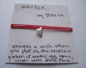 Whisper Necklace - heart