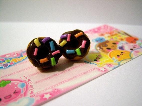 SALE- Kawaii Donut Earrings