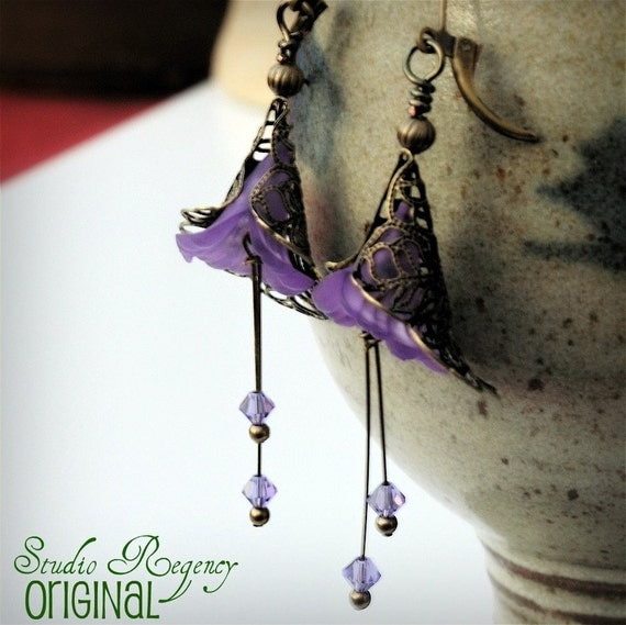 Victoria's Blossom Earrings CUSOMIZE you choose the COLOR