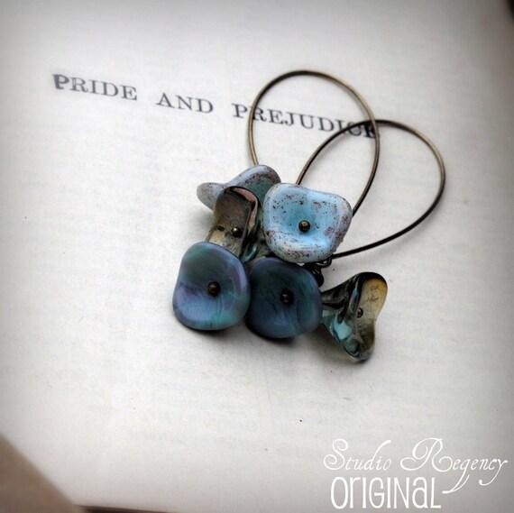 Earrings - Flower Earrings- Cornflower Fairy Posey Earrings - Blue Earrings - Blue Flower Earrings - Fairy Earrings