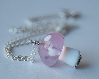 Pink Princess Toadstool Necklace