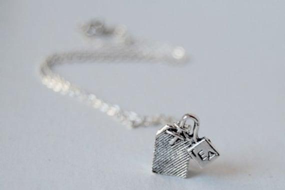 Teeny Tiny Tea Bag Necklace - SALE! -