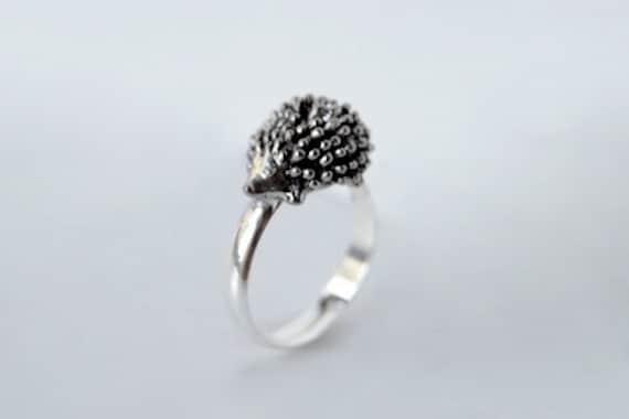 Wild Hedgehog ADJUSTABLE size Ring