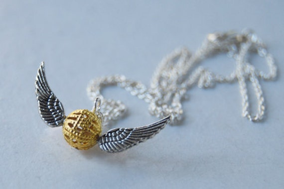 Mini Golden Snitch Necklace