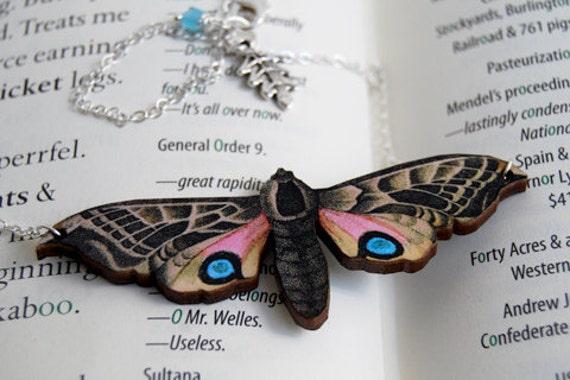 Blind Eyed Hawk Moth Necklace