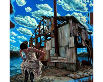 Entitled and Abandoned - Original Stillman Giclee on Stretched Canvas, 16 x 16 in.