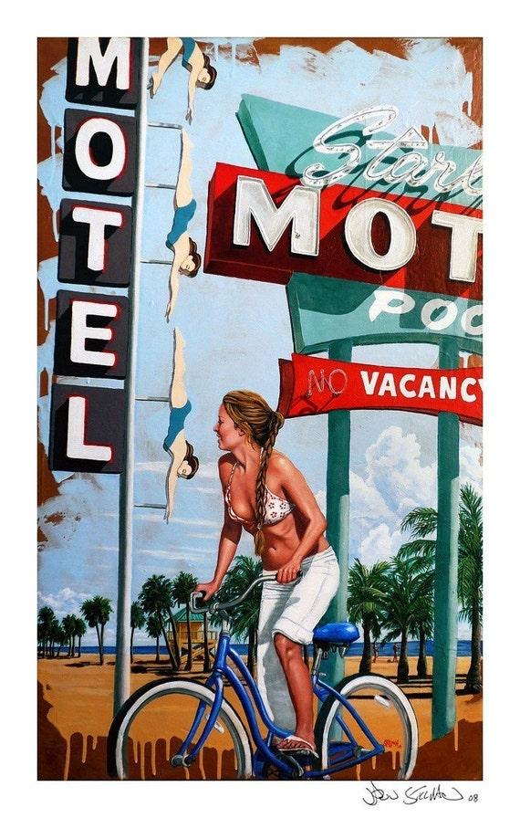 Starlite Beach no. 1- Original Stillman Giclee on Signed Archival Paper, 14 x 22 in.