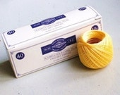 SALES - 15% OFF - Lace Crochet Cotton Thread - Olympus Gold Label 40 - col.521 Medium Yellow - 1 ball - 10g/89m
