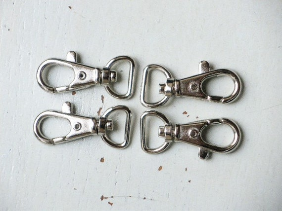 50 pcs ---- 0.5 inch inside wide ---- Nickel Lobster Swivel Clasps