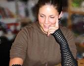 Elbow-Length Fingerless Gloves - Crochet Pattern