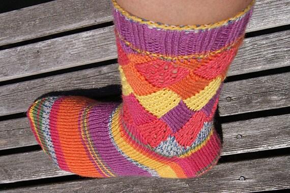 comment tricoter des bas entrelac
