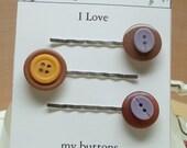 Vintage burgundy orange lilac button bobby pin 07,hair fashion,hair accessory,hair decoration stocking stuffers