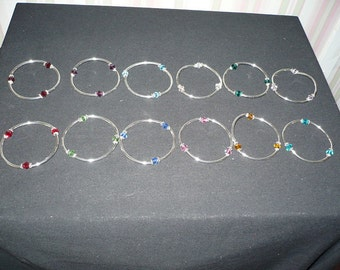 BIRTHSTONE BRACELET with SWAROVSKI beads