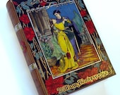 Shakespeare's Romeo and Juliet wooden hideaway book box.  Beautiful and hand decorated