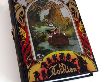 Hidden drawer, secret safe box, hollow book - The Hobbit- Barrel Rider edition hideaway book box- unique and hand-made