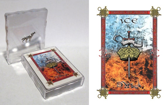 Poker/playing cards - A Song of Ice and Fire/Game of Thrones  deck - pick a charm.  Customisable case.  Perfect gift
