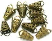 14 Filigree Cones Solid Brass w/Antiqued Patina SBC-212AGP