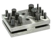 Disc Cutter, Square Frame, 14 Piece Set, 3mm to 16mm Case Harden Steel