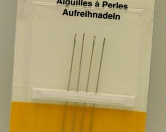 2 Pkgs of 4 English Beading Needles Size 12 (BS BN124)