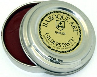 Gilders Paste, Patina Paste, This Color is Called PINOTAGE, comes with a Free Horse Hair Applicator Brush More Colors than Anyone, 28 in All