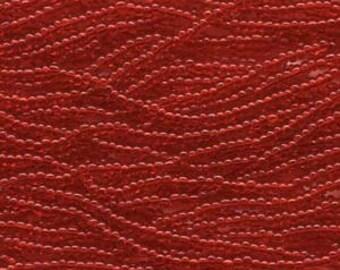 Ruby, Light 6/0 Czech Seed Beads Small Hank six  20 inch Strands