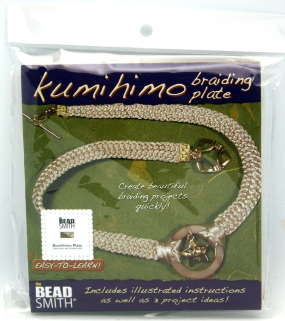 Kumihimo Square Braiding Board w/Instructions (written in ENGLISH)